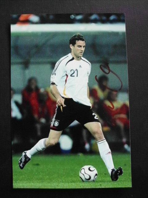 A 182268 Christoph Metzelder Deutschland Panini Card WM 2006 Original Signiert