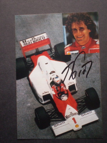 Alain Prost Autogrammkarte Formel 1 Weltmeister